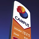 Campus Oil totem display